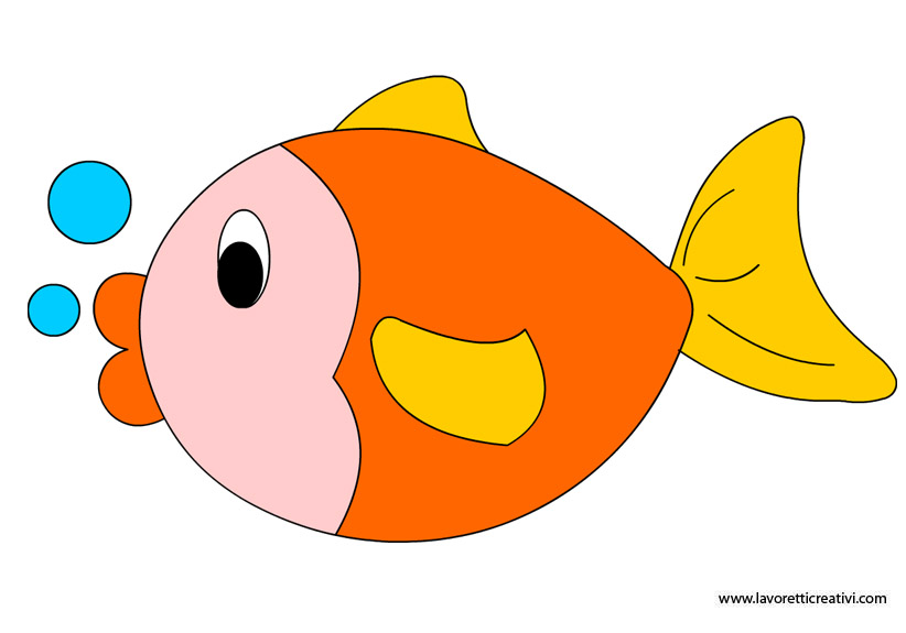 Pesce e verdura in tavola per mantenere giovane il for Disegni da colorare pesciolini